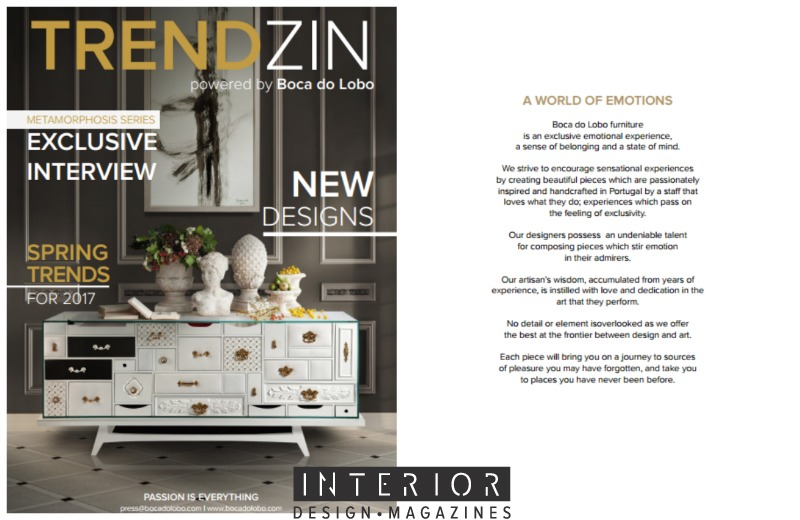 Download Free the BrandNew TRENDZIN Interior Design Magazine Best