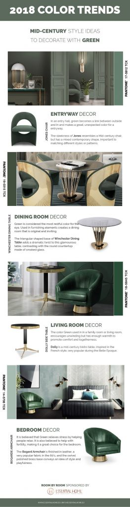 2018 Color Trends: Green Home Decor Ideas with a Mid-Century Touch ➤Discover the season's newest designs and inspirations. Visit Best Interior Designers at www.bestinteriordesigners.eu #bestinteriordesigners #topinteriordesigners #bestdesignprojects #interiordesignideas @BestID 2018 color trends 2018 Color Trends: Green Home Decor Ideas with a Mid-Century Touch 2018 Color Trends Green Home Decor Ideas with a Mid Century Touch 6