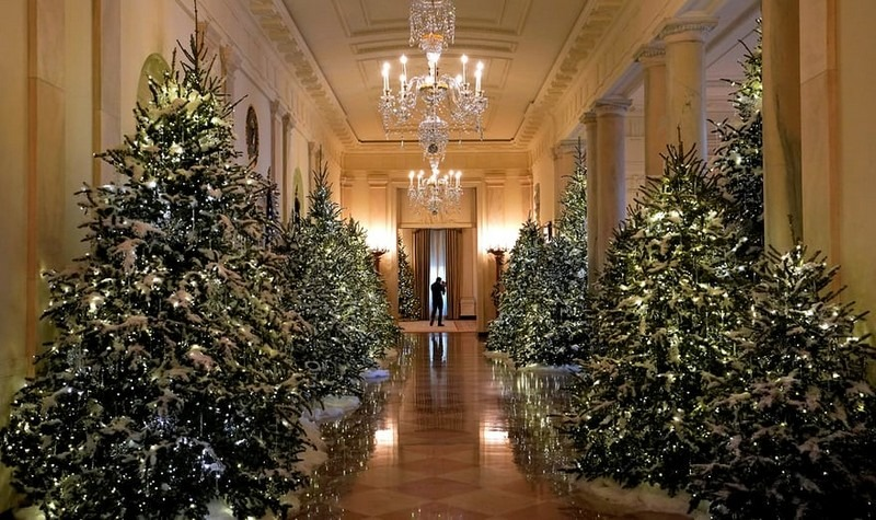 melania trump reveals white house christmas decorations for this year best interior designers christmas