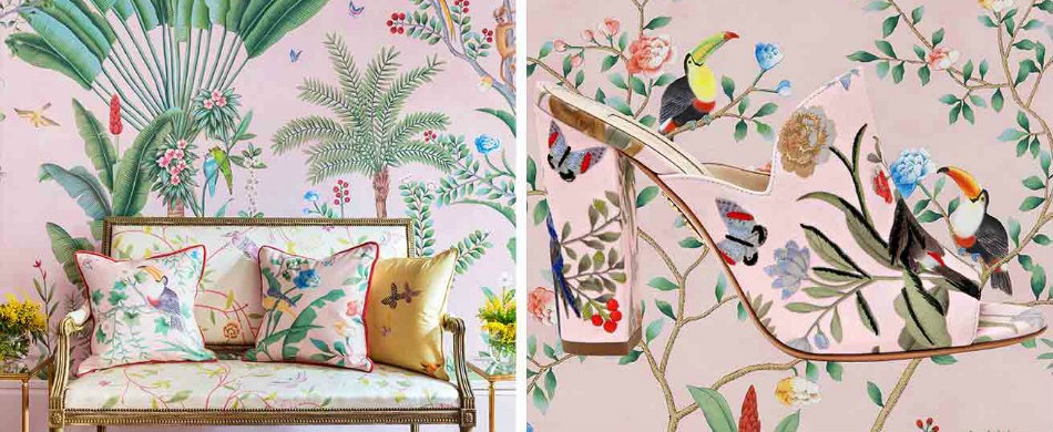 The Stunning Collaboration Between De Gournay and Aquazzura - Best Interior Designers - Top Interior Designers - World's Best Interior Designers - Discover the season's newest designs and inspirations. Visit Best Interior Designers! #bestinteriordesigners #degournay #TopInteriorDesigners @BestID