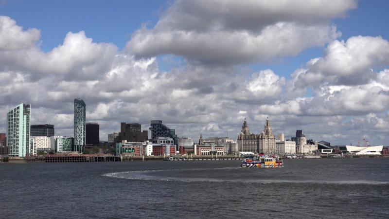 This July Don't Miss The Fine-Tuned Vintage Event in Liverpool! Vintage Event This July Don't Miss The Fine-Tuned Vintage Event in Liverpool! 4k timelapse cloud pass liverpool city panorama public transportation ferry trip editorial footage vwgqyzltg  F0000