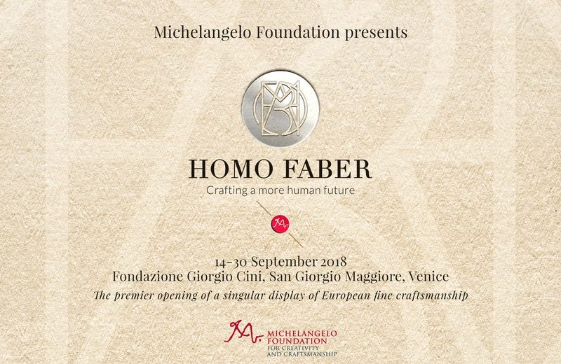 Presenting the Homo Faber 2018  Homo Faber 2018, a Top Craftsmanship Design Event in Venice Homo Faber Is a Unique Venice Event that Boosts European Craftsmanship 1 800x520