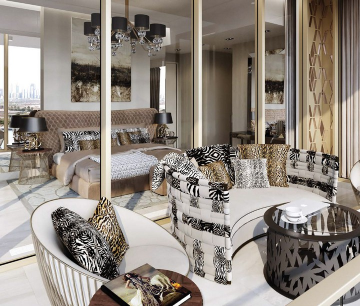 A New Tower in Dubai Perfectly Fitted by Cavalli Home cavalli home A New Tower in Dubai Perfectly Fitted by Cavalli Home I Love Florence Towers to Feature Interior Design by Roberto Cavalli 4