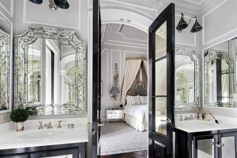 castle Deluxe Interiors - Hilfiger's Castle in the Sky bedroombathroom