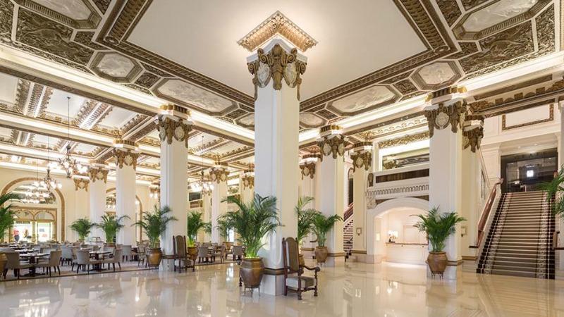 Hong Kong's Peninsula Hotel peninsula hotel A look at Hong Kong's Peninsula Hotel phk lobby interior 1074a