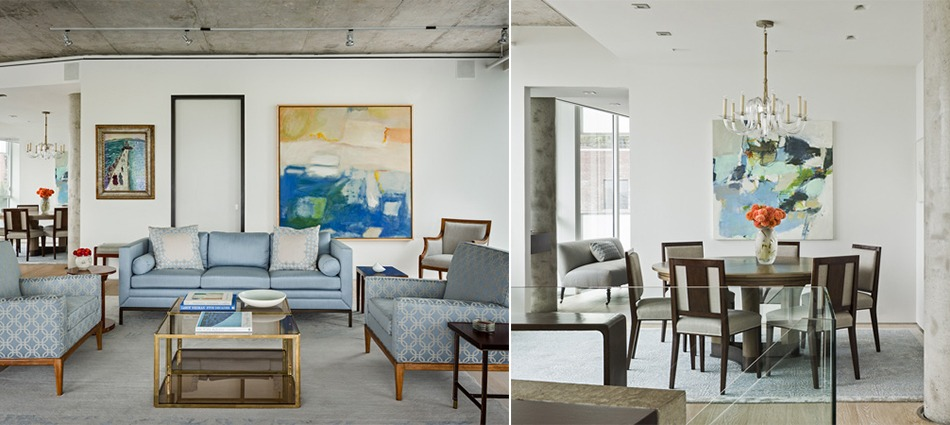 Left - Classical Project/ Right - Contemporay Penthouse