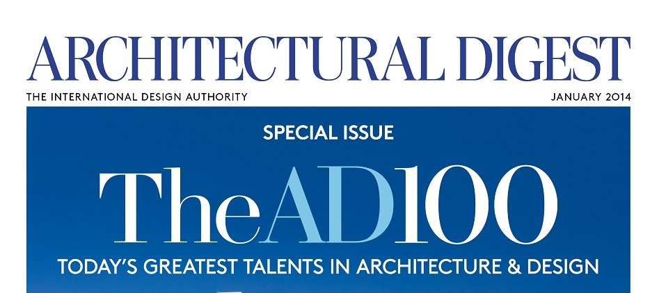 Architectural Digest: the top 100 AD January 2014 Cover   300 1