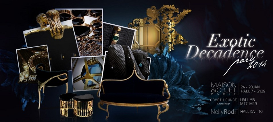"""Top furniture brands to watch ar Maison&Objet Paris 2014""  The brands to watch at Maison & Objet – Paris 2014 exotic decadence at maison et objet1"