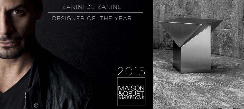 Designer of the Year announced by M&O Americas Zanini de Zanine maison et objet americas designer of the year