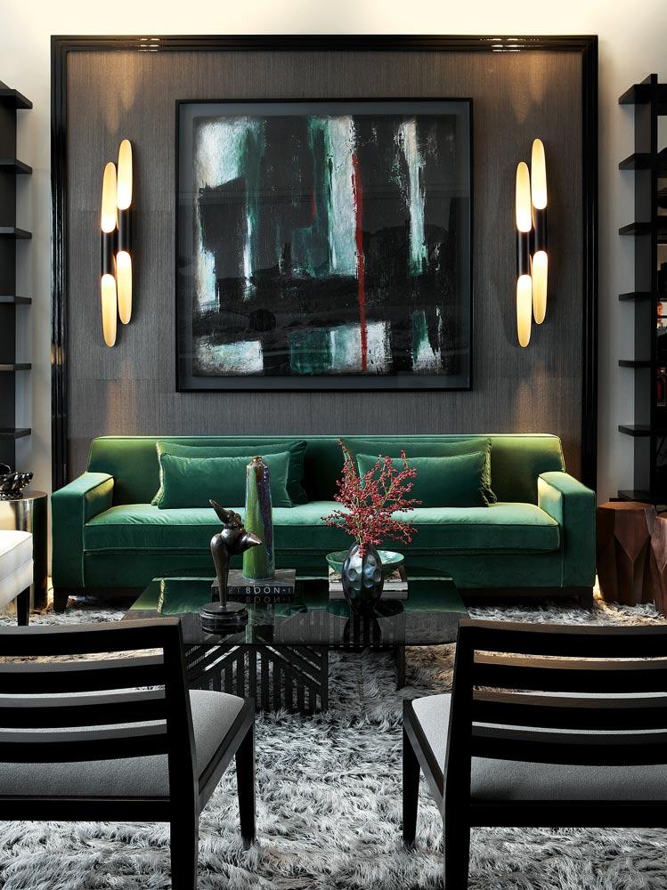 Best Interior Designers Philipp Mainzer Interiors Luxury Interiors Residential Projects Living Room With Green Sofa Best Interior Designers