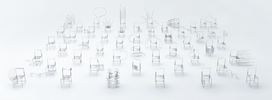 50 Manga chairs by Oki Sato