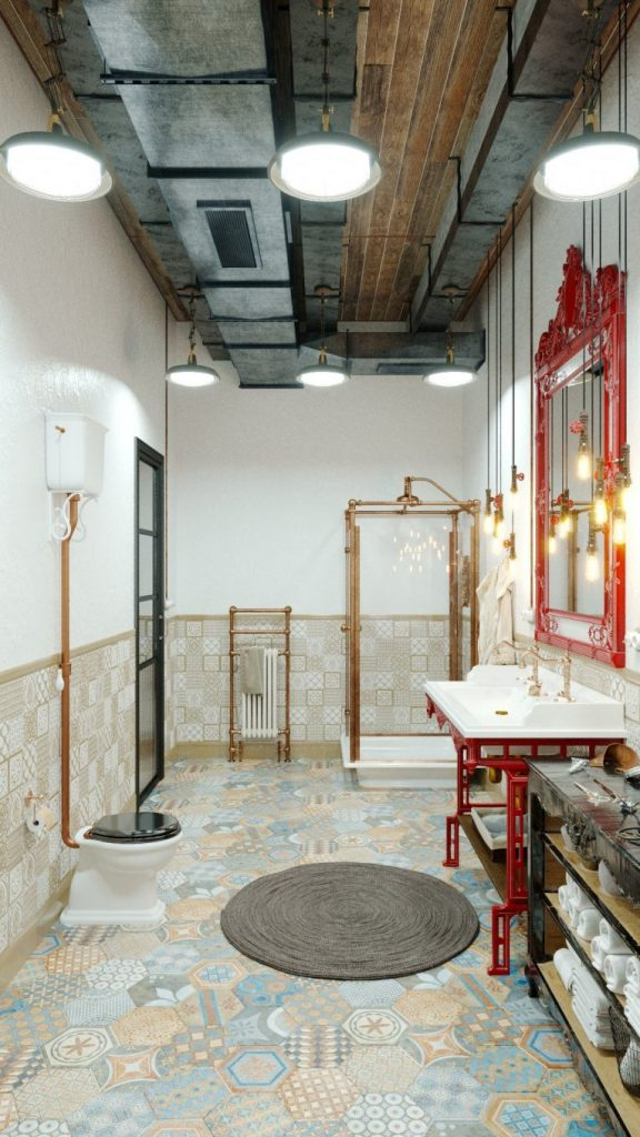 An Industrial Style Vintage Bathroom by Mihail Scherbbak vintage bathroom An Industrial Style Vintage Bathroom by Mihail Scherbbak An Industrial Style Master Bathroom by Mihail Scherbbak 2
