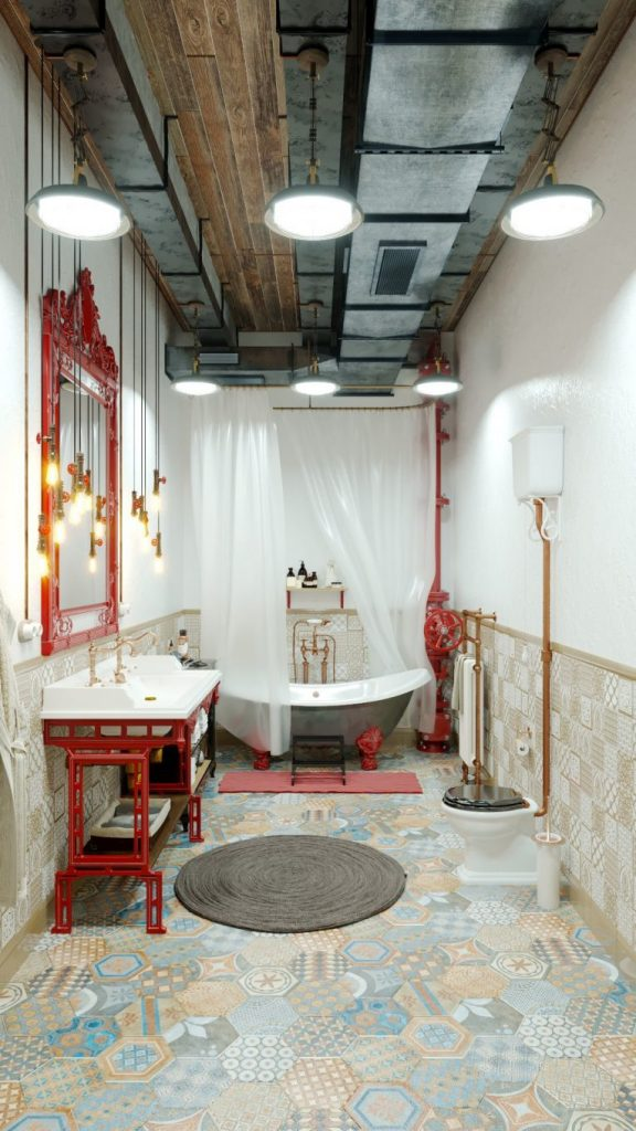 An Industrial Style Vintage Bathroom by Mihail Scherbbak vintage bathroom An Industrial Style Vintage Bathroom by Mihail Scherbbak An Industrial Style Master Bathroom by Mihail Scherbbak