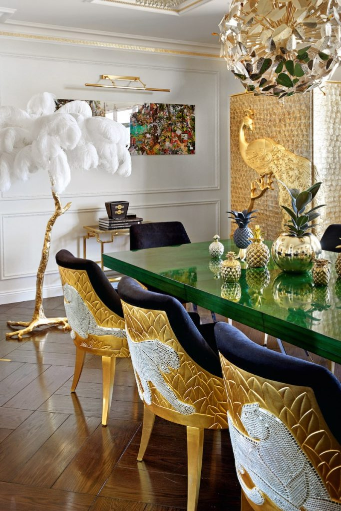 Amazing Dining Room Designs by Superstar Interior Designers - Part 2 dining room Amazing Dining Room Designs by Superstar Interior Designers – Part 2 Take a Look at This Goldlusted Russian Apartment by Tatyana Myronova 1