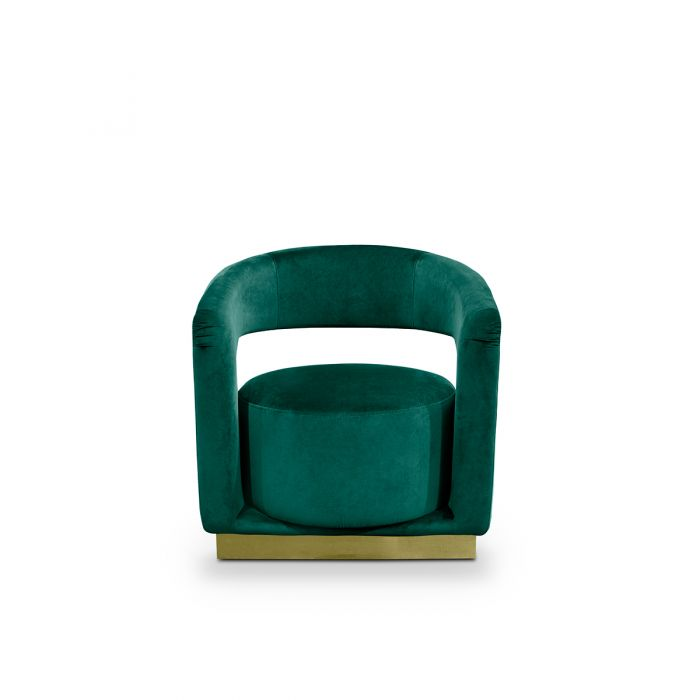 interior designers How to Use Color Trends by Top Interior Designers ellen armchair by essential home insplosion