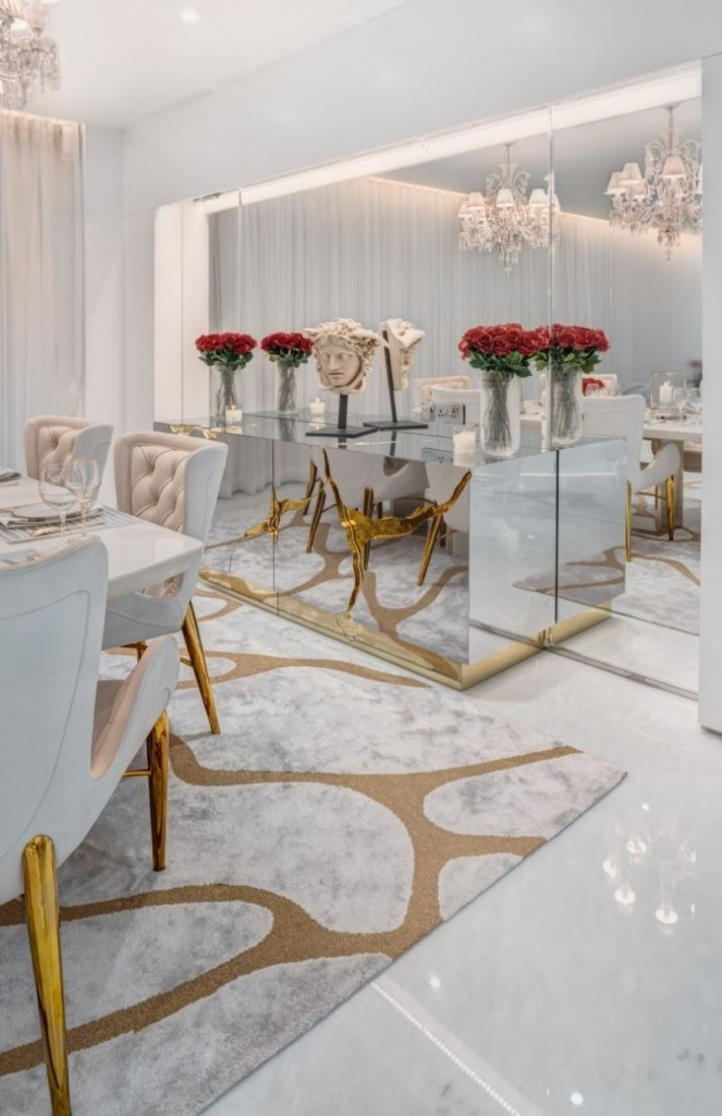 A Luxurious White and Gold Open Space by Vratika & Nakul   An Open Space Luxury Residence by Vratika & Nakul A Sense Of Glam And Sophistication Inside This Luxury Residence 1 663x1024 1