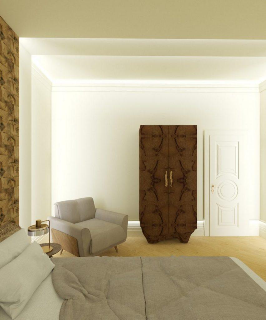 Elegant Penthouse Project by Ksenia Schwarzmann  elegant penthouse Elegant Penthouse Project by Ksenia Schwarzmann Neutral Bedroom Design scaled