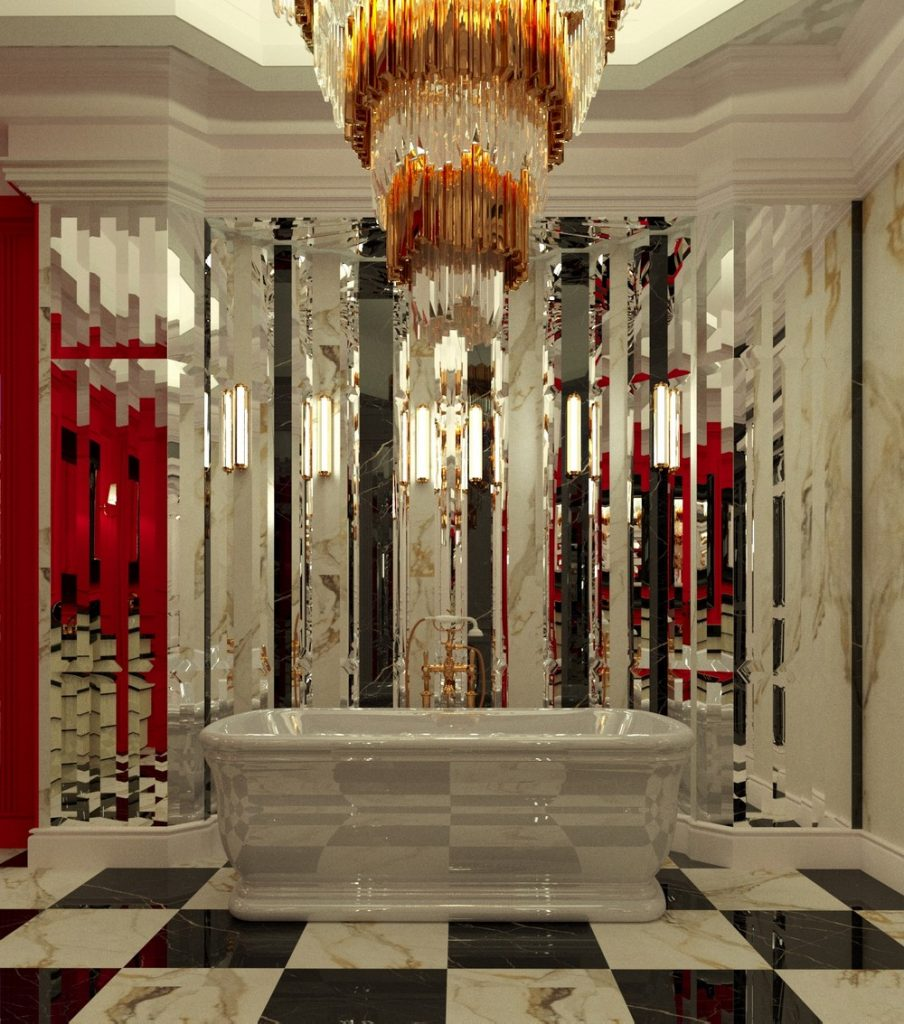 Elegant Penthouse Project by Ksenia Schwarzmann  elegant penthouse Elegant Penthouse Project by Ksenia Schwarzmann Palatial Like Bathroom Interior
