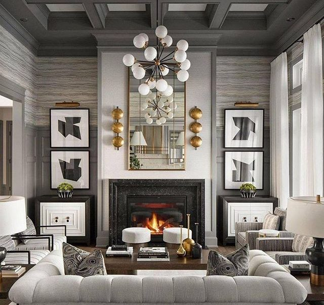 Gorgeous Grey-Toned Living Room By Curtis Elmy