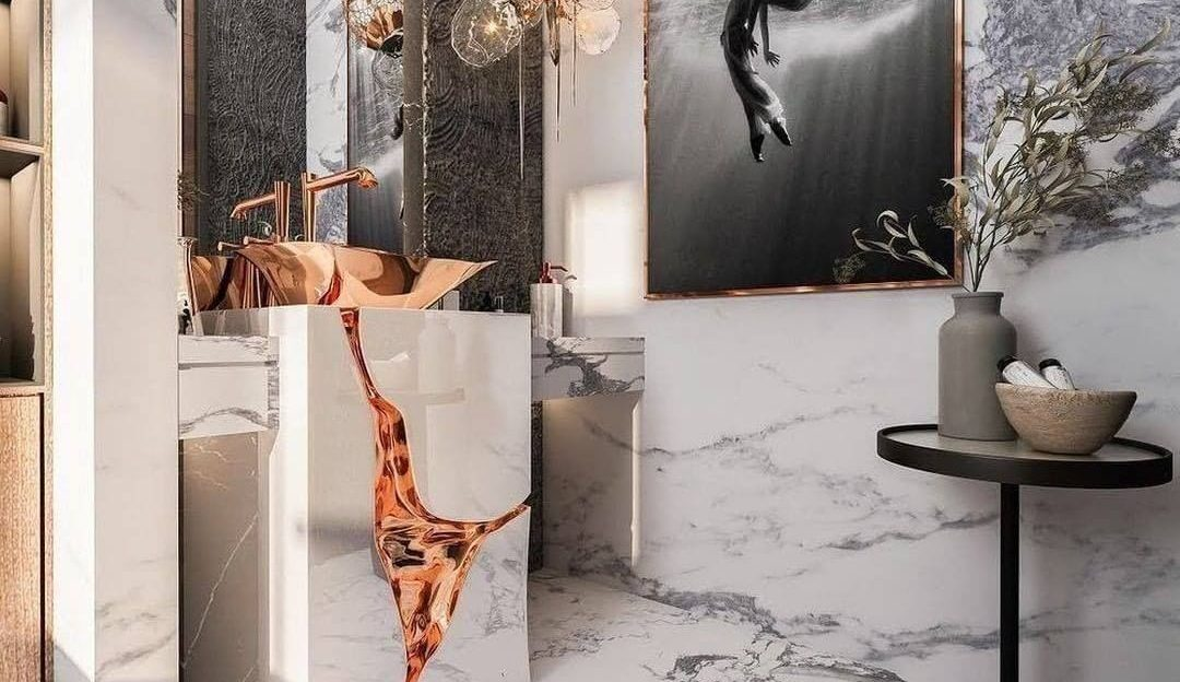 Fancy bathroom project by featuring a custom Lapiaz Freestanding fancy bathroom project by featuring a custom lapiaz freestanding 1080x624