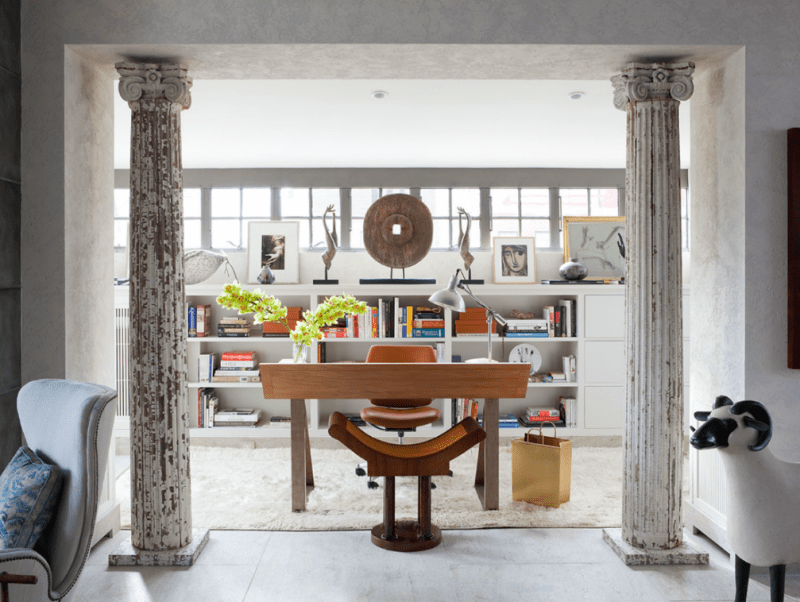 furniture shops 20 Furniture Shops & Showrooms in New York salvaged columns to office photo Roger Davies 800x602