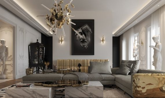 penthouse Explore The Contemporary Design of Multi-Million Dollar Penthouse In Paris 1 570x340