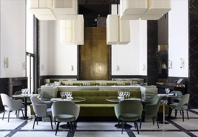 Contemporary Design Projects by Joseph Dirand joseph dirand Contemporary Design Projects by Joseph Dirand Monsieur Bleu Restaurant