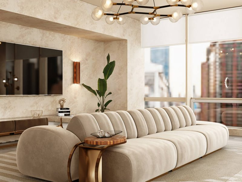 modern minimal design Modern Minimal Design Ideas for a Luxury Home cassia modular sofa 800x602
