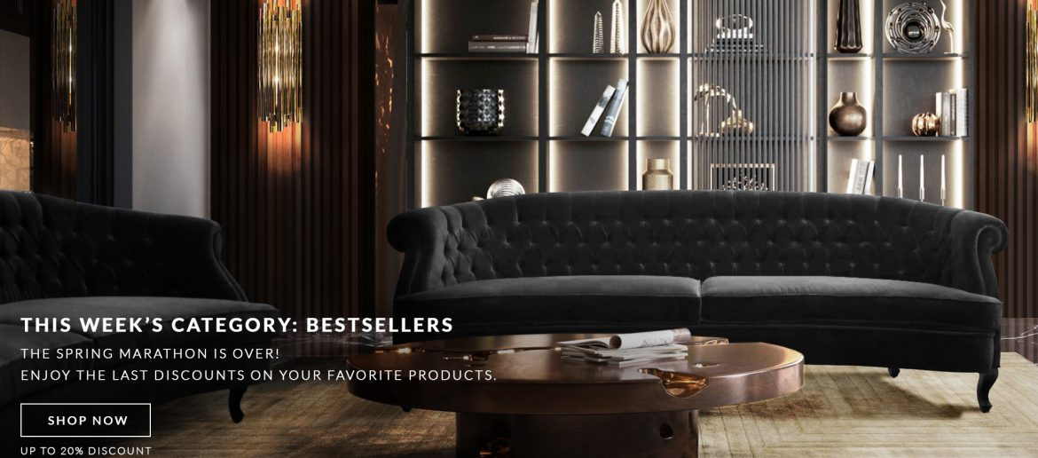 Luxury Furniture Best Sellers: Special Discounts Only This Week! BANNER LOJA ONLINE W24 1170x516