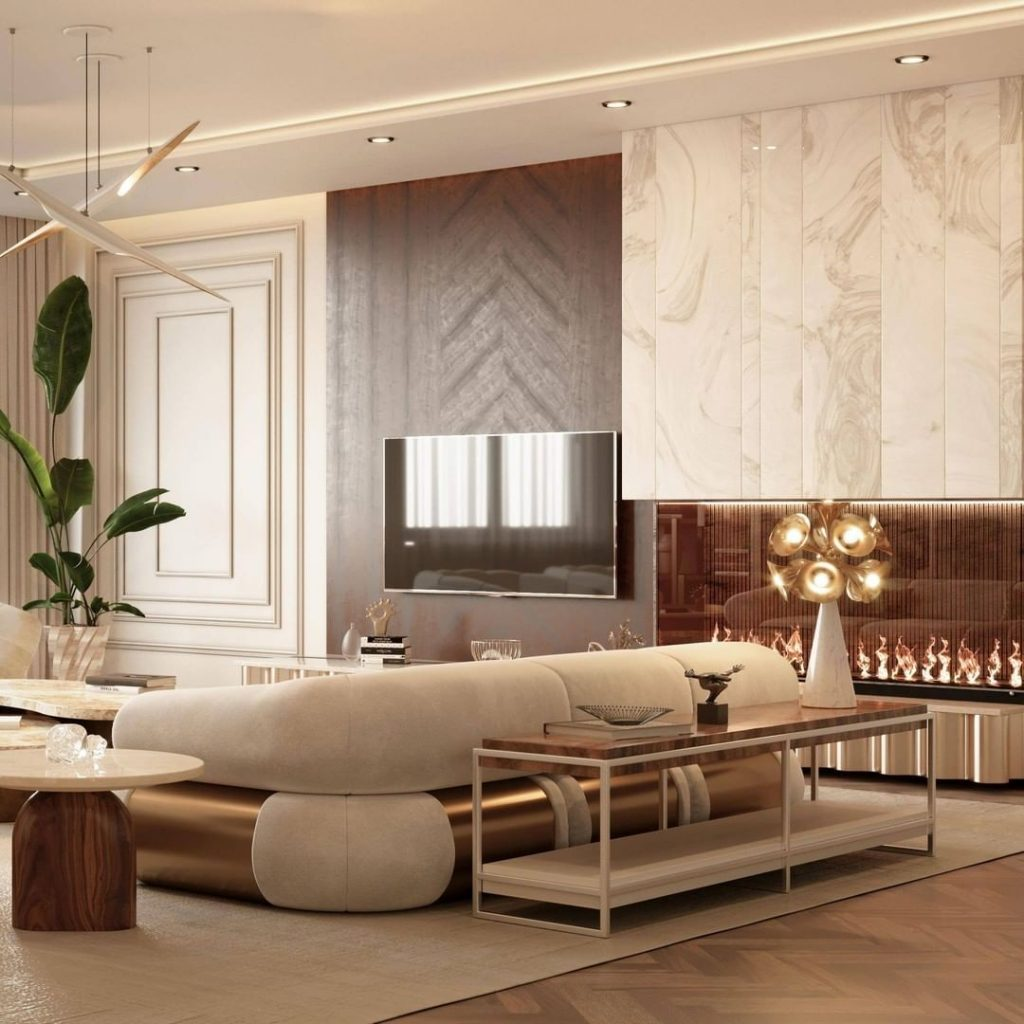 living room 18 Living Room Ideas To Accommodate Your Guests BottiLamp8