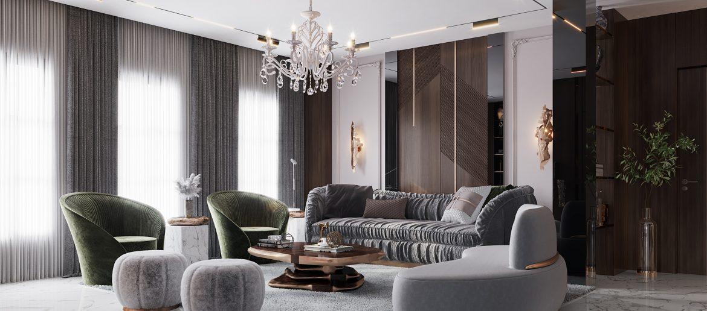 modern classic villa Covet House x K.A Interior Design: Step Inside This Modern Classic Villa Living Room 5 1170x516