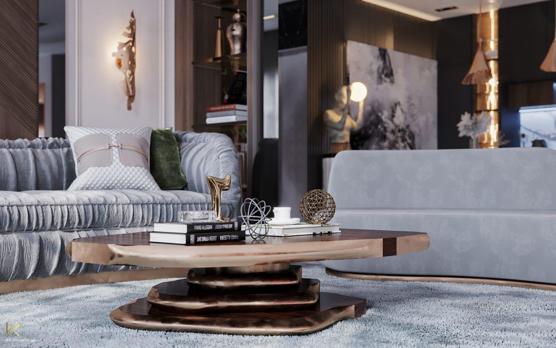 modern classic villa Covet House x K.A Interior Design: Step Inside This Modern Classic Villa Living Room 9 scaled