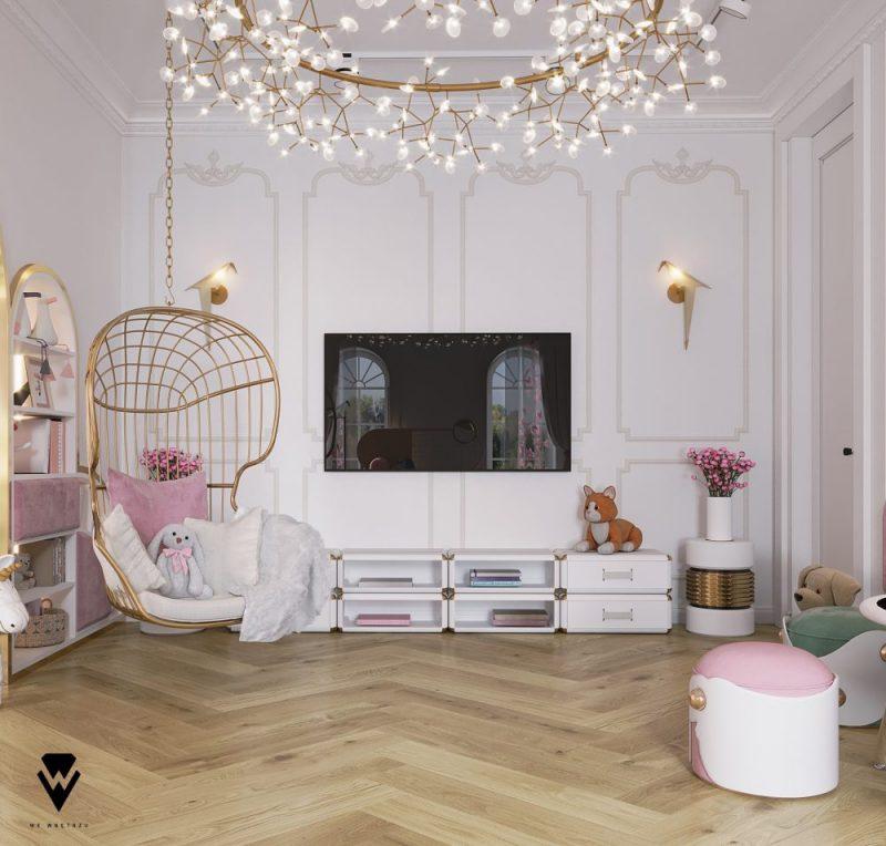 Girls Luxury Bedroom: A We Wnętrzu and Circu Dreamy Creation
