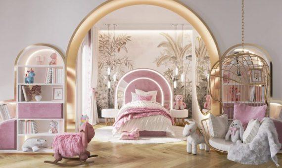 girls luxury bedroom Girls Luxury Bedroom: A We Wnętrzu and Circu Dreamy Creation girls luxury bedroom wne  trzu creation 1 570x340