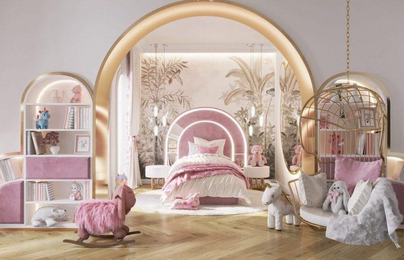 girls luxury bedroom Girls Luxury Bedroom: A We Wnętrzu and Circu Dreamy Creation girls luxury bedroom wne  trzu creation 1 800x516