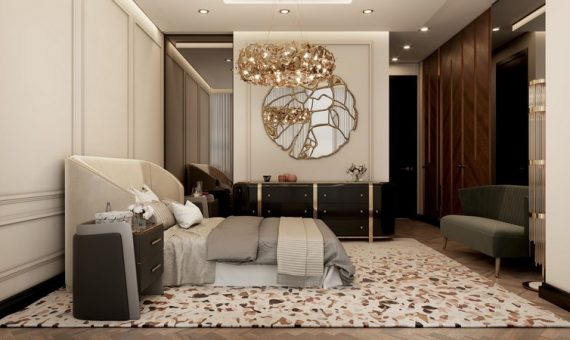 Millionaire's Modern Apartment in NYC neutral palette luxury meet nyc modern apartment 12 570x340