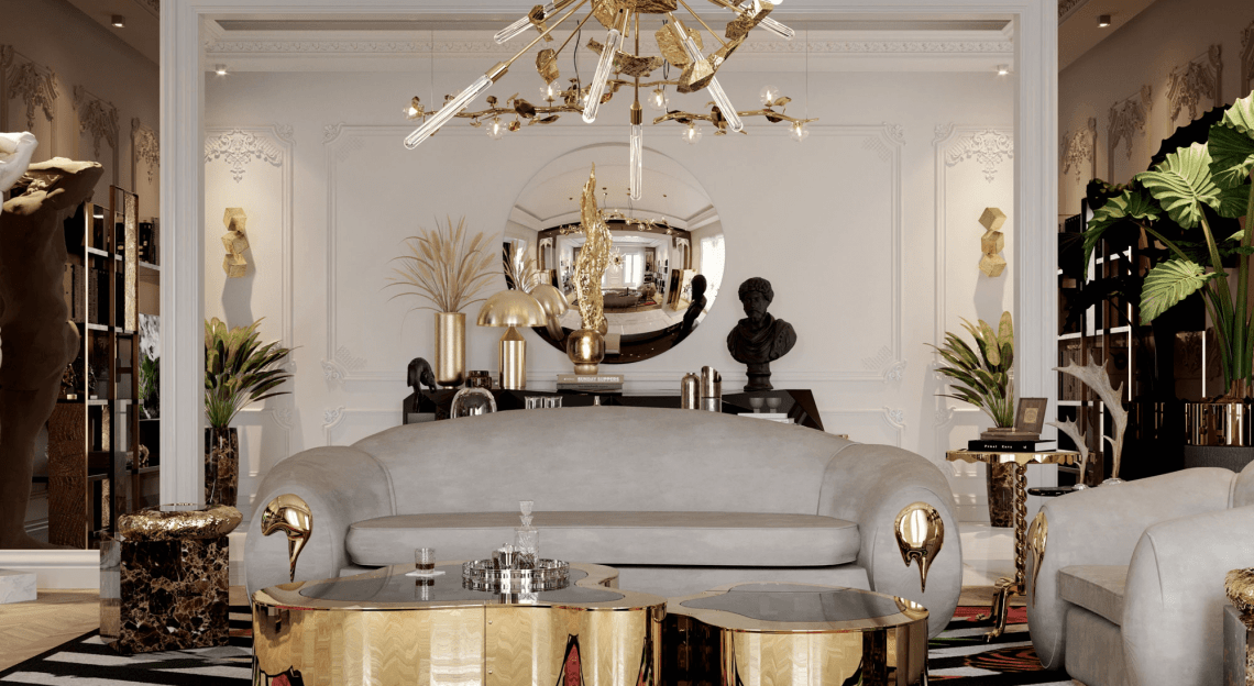 lighting collection Brighten Up Your Space: The Ultimate Lighting Collection wave hammered brass center table 03 zoom boca do lobo 1140x624