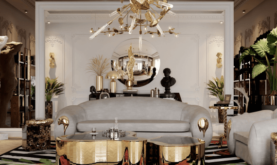 lighting collection Brighten Up Your Space: The Ultimate Lighting Collection wave hammered brass center table 03 zoom boca do lobo 570x340