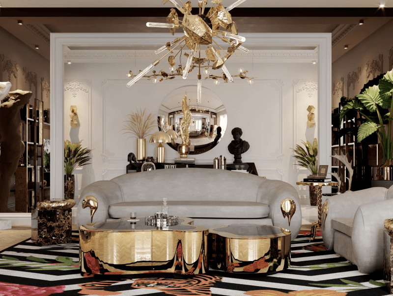 lighting collection Brighten Up Your Space: The Ultimate Lighting Collection wave hammered brass center table 03 zoom boca do lobo 800x602