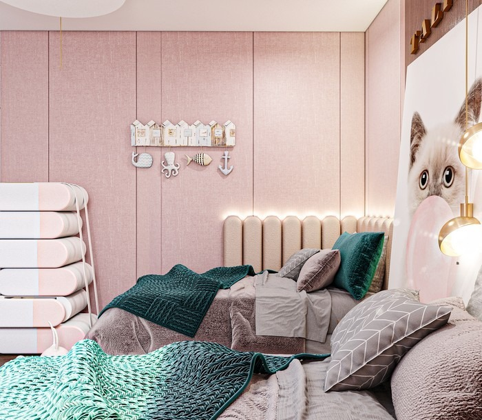 Salah Elmasri Design: HollywoodGlamourBedroom