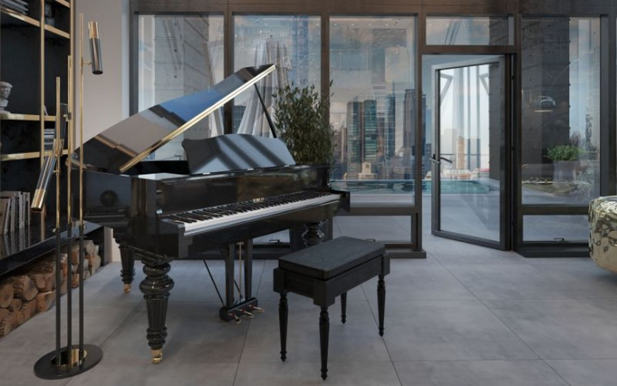 Piano in a Luxurious New York penthouse