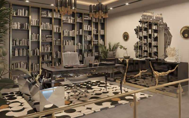 Chic office space in a luxurious penthouse