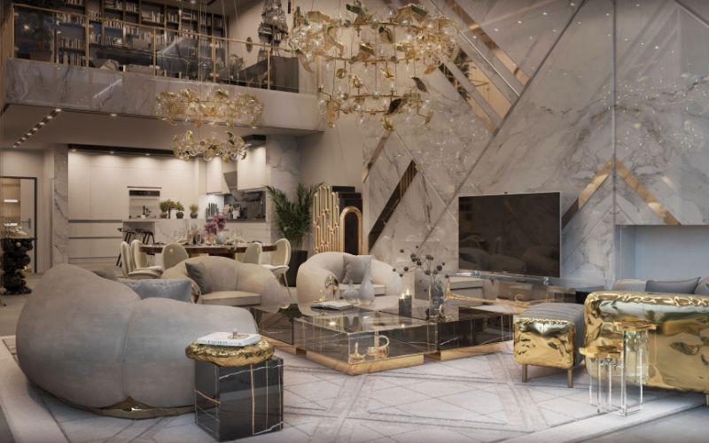 New York Penthouse Living Room by Boca do Lobo