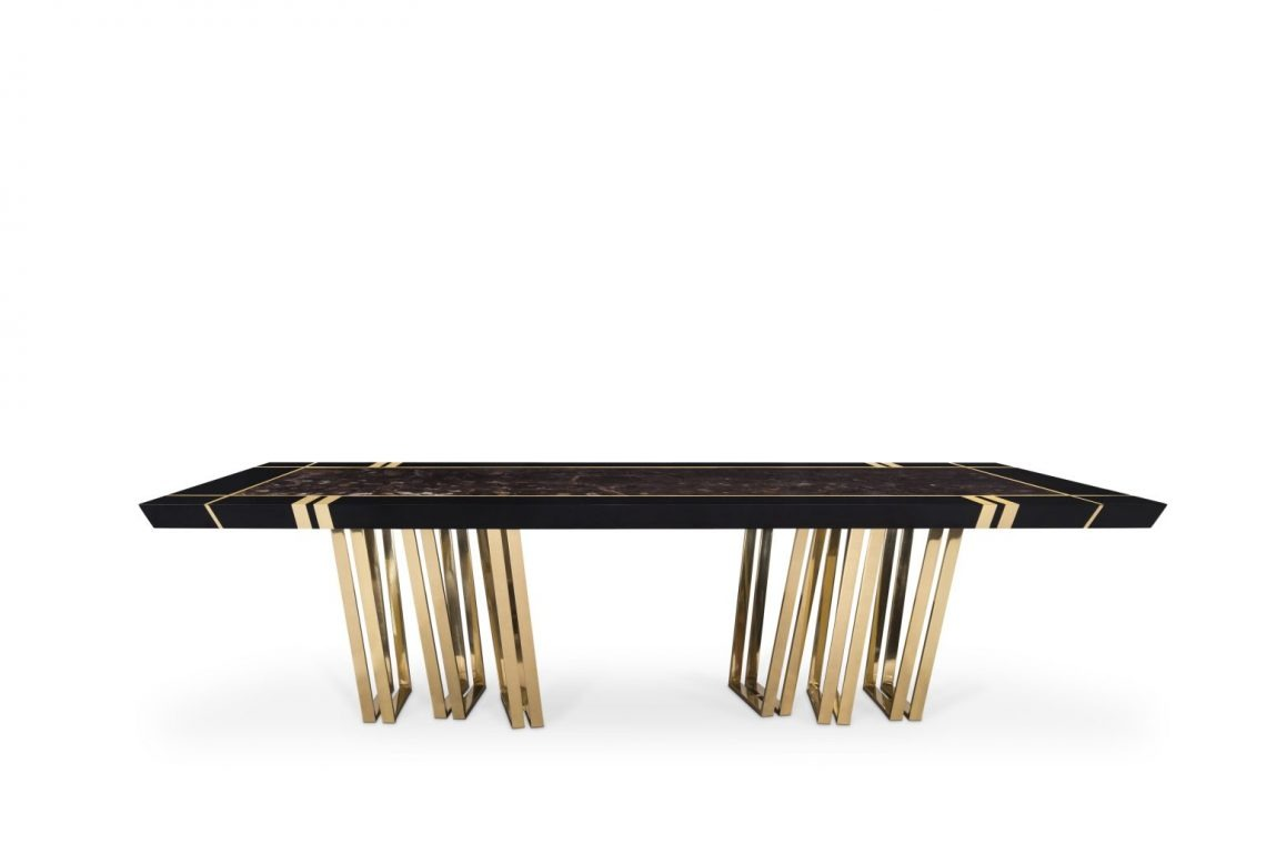 Apotheosis Big Black Dining Table
