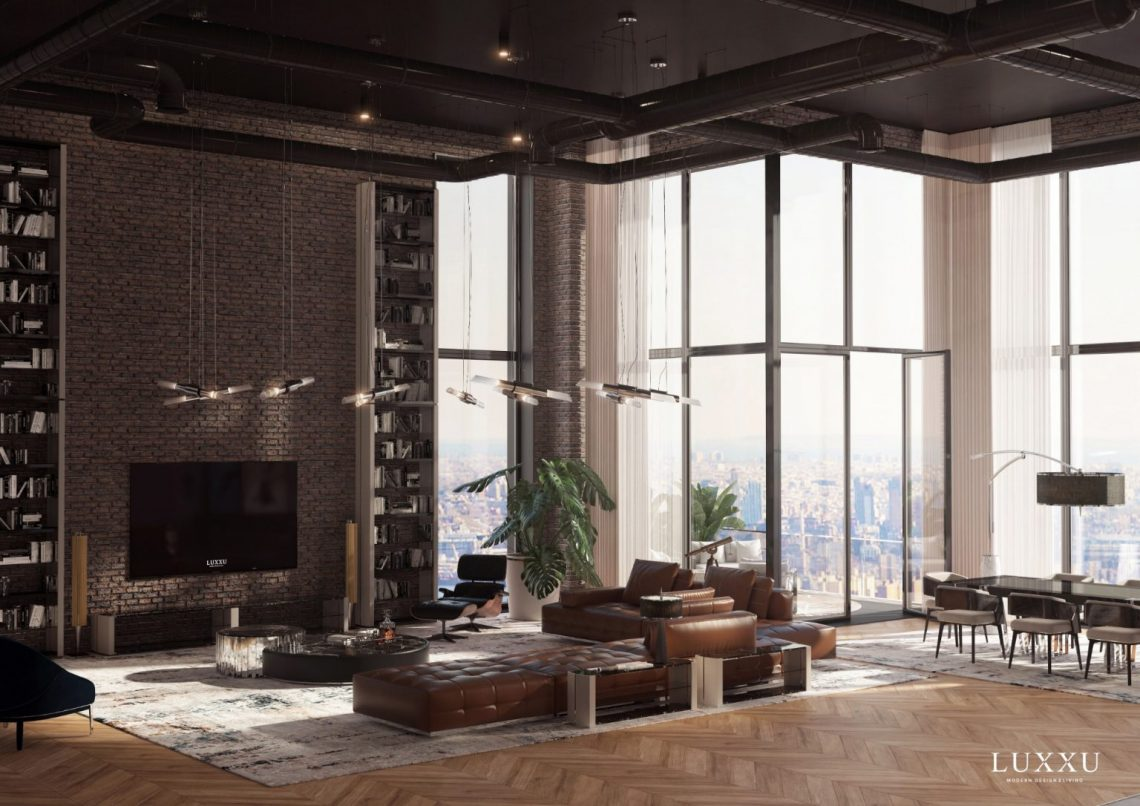 New York living rooms with big windows