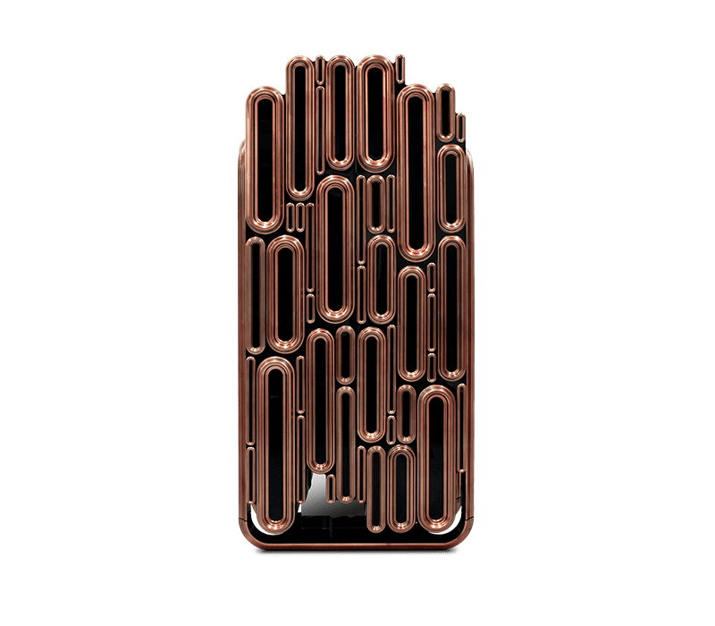 Boca do Lobo Black and Gold Oblong Cabinet